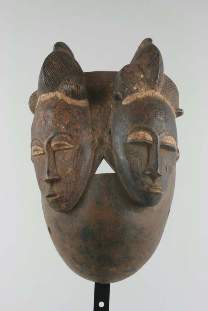 Baoulé mask with two faces